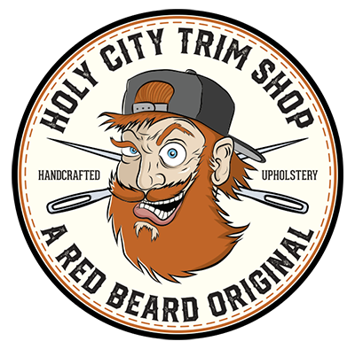 Holy City Trim Shop caricature logo